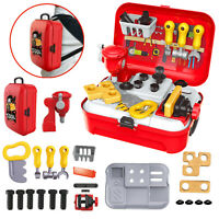 Childrens 25 Pcs Tool Bench PlaySet Work Shop Tools Kit Boys Kids Workbench Toy