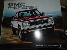 GMC S-15 Pickups brochure 1984 Canadian market