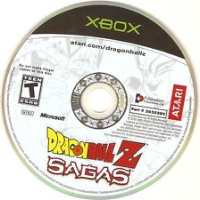 Dragon Ball Z Sagas XBOX BLACK LABEL Atari FUNimation Fighting Fighter Game Disc