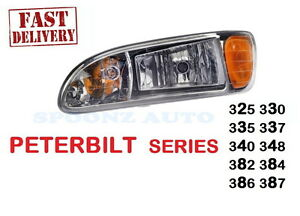 2005-2016 PETERBILT PETE Headlight lamp 382 384 16-09190L DRIVER - LEFT