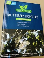 Wilson & Fisher White Butterfly Solar Light Set, 20-Count