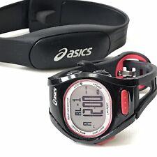 Asics AH01 Heart Rate Monitor Running Watch WJ30-4000 Black Red