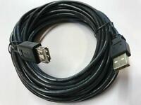 10 Meter SCHWARZ USB Verlängerungskabel A-Stecker A-Buchse a-a 10m am/af