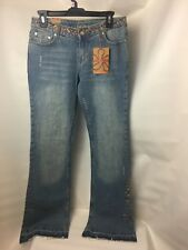 Younique embroidered  stretch  jeans size 9 flared legs girls women's juniors