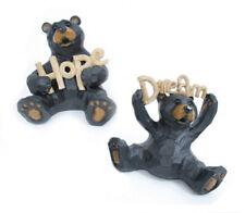 "Inspirational ""Hope"" or ""Dream"" Black Bear Figurines Indoor Home Decor"