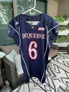 2014 Adidas Game Used Worn Duquesne Dukes Football Jersey