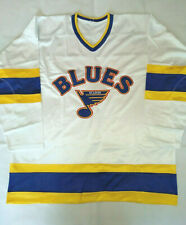 New Men's Pro 52 XL 1984-85 St Louis Blues Custom Clone Home White Jersey