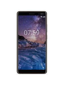 """Nokia 7 Plus Android, 6"""", 4G LTE, SIM Free, 64GB, Black/Copper"""