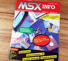 MSX-Info  3/1986 Erstausgabe MSX Programme Listings Spiele Magazin 80er Selten
