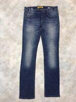 MEK DNM Women's Blue Medium Wash Hollywood Straight Jeans Sz 25