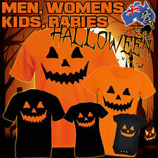 HALLOWEEN T-SHIRT costume cheap pumpkin fancy dress s MEN WOMENS KIDS funny gift