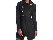 NEW GUESS Double-Breasted Boucle Walker  Wool Coat Size XXL