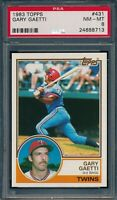 1983 Topps Set Break # 431 Gary Gaetti PSA 8 *OBGcards*