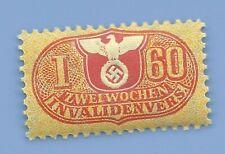 Germany Nazi Third Reich Nazi Swastika Eagle Revenue I60 Stamp MNH WW2 ERA