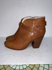 $550 Rag & Bone Harrow SHEARLING Ankle Boots in brown sz EU 37.5/ 7.5 US