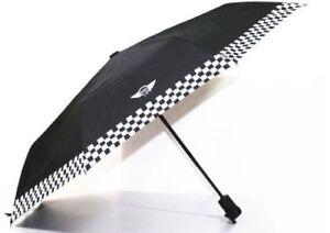 Mini Cooper Portable Automatic Folding Umbrella Umbrellas Checkered Style