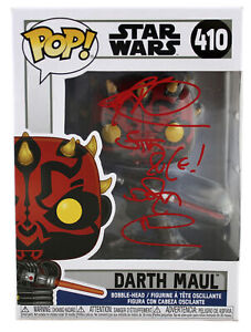 "Ray Park Star Wars ""Sith Rule! Darth Maul"" Signed  Funko Pop Vinyl Figure BAS W"