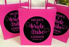 PERSONALISED BRIDE TRIBE ELEGANT HEN NIGHT PARTY BAGS,HEN NIGHT, GOODY BAG
