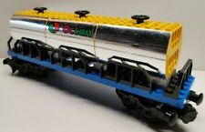 Lego Eisenbahn Octan Tankwaggon MOC hochwertig chrome/gelb gebraucht 17/10-8