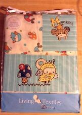 Living Textiles Baby Hopscotch Collection 3pc Sheet Set Cot - New