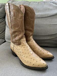 Sedona West Ostrich Cowboy Western Boots Men's Size 10.5 Width EE