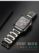 Ceramic watcn band For Apple Watch Series With Stainless Steel Strap Watchband