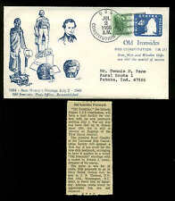 U.S. FRIGATE CONSTITUTION 7/2/66 FIRST DAY OF POSTAL SERVICE