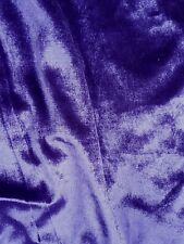 PURPLE VELVET VELOUR TWO TONE 3 METRES FOR £5.00 STRETCH REGAL PURPLE 60 IN WIDE