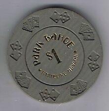 Park Tahoe $1.00 Diecard Mold Casino Chip 1st Edition Nevada