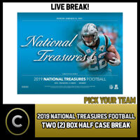 2019 PANINI NATIONAL TREASURES NFL 2 BOX HALF CASE BREAK #F414 - PICK YOUR TEAM
