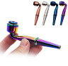 1PC 95 mm Portable Metal Smoking Pipe Detachable Tobacco Herb Filter Pipes New