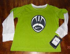 New Boy's Nike shirt size 2T Brilliant green Football