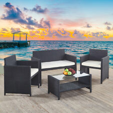 Luxury Rattan Garden Patio Set Dining Table Arm Chairs Sofa Outdoor Furniture