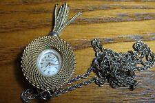 Antique Elgin Starlite Watch 17 jewels Sunburst Pendant Necklace Ladies Pocket