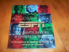 THE GOSPEL ACCORDING TO ESPN Sports Sport Baseball Football Basktball Book