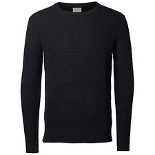 Selected Crew Neck Knitted Pullover Blue Medium TD076 OO 06