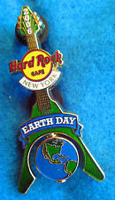 New listing New York City Earth Day Spinning Planet Globe Flying V Guitar Hard Rock Cafe Pin