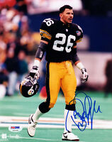 ROD WOODSON SIGNED AUTOGRAPHED 8x10 PHOTO PITTSBURGH STEELERS PSA/DNA