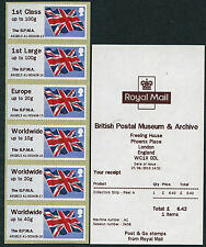 HYTECH BPMA OVERPRINT FLAG JUNE 2013 CODE A6GB13  COLLECTOR SET OF 6 POST & GO