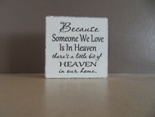 Shabby Inspirational heaven plaque, chic and unique