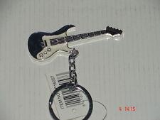 Guitar key ring--(  Dark red)