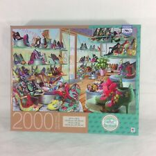 MB 2000 Piece Puzzle Adrian Chesterman Carnaby Shoe Shop NEW SEALED ^
