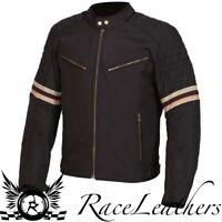 WEISE MICHIGAN BLACK WATERPROOF RETRO CLASSIC MOTORCYCLE MOTORBIKE BIKE JACKET