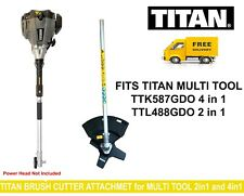 Titan Brush Cutter Attachment for Multi Tool -Lower Straight Shaft Blade Guard