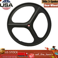 Fixed Gear 700c 17 Teeth Tri Spoke Rim Rear Fixie Single Speed Bike Wheels