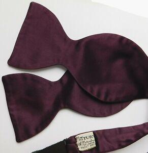 Turnbull and Asser Jermyn Street silk bow tie Frost Bros vintage 1960s self tie