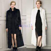 New Women's Faux Fur Coat Jacket Overcoat Stand Collar Full Pelt Fashion Winter