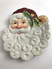 Fitz & Floyd Christmas Santa Canape Collector Plate 2003 with Box 2063/330