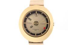 Vintage Zodiac Astrographic SST Automatic Mystery Dial 17J Swiss Gold-Tone Watch