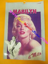 CALENDARIO CALENDAR MARILYN MONROE il mito 1993 1994 no cd dvd lp mc vhs live